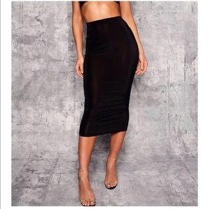 Boohoo High Waist Slinky Fitted Midaxi Skirt 🆕